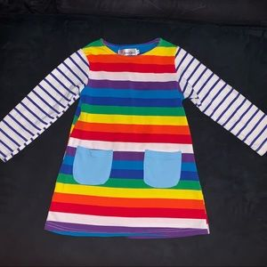 Other - Rainbow striped toddler girl dress size 2T
